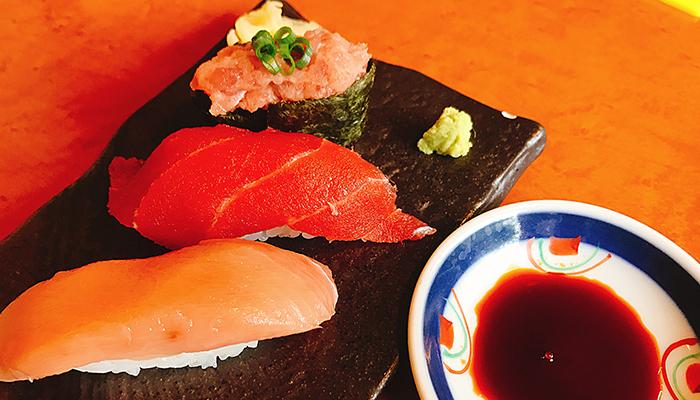 海山亭いっちょう 寿司三貫